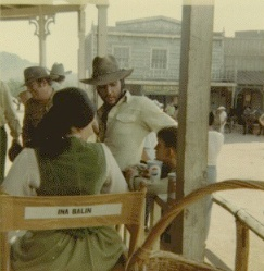 Elvis on set
