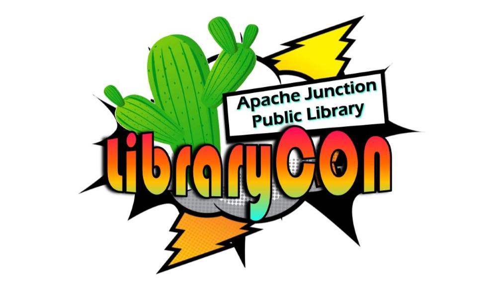 Librarycon logo with cactus