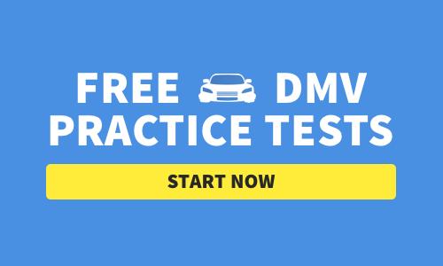 Text: Free DMV Practice Tests Start Now