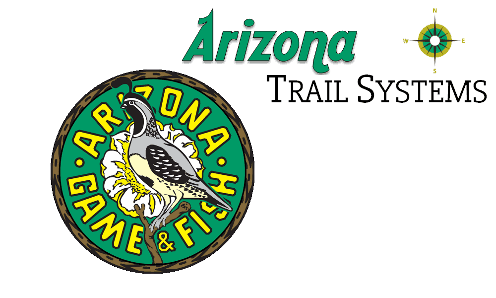 Arizona Trail Systems with compass and Arizona Game & Fish Logo
