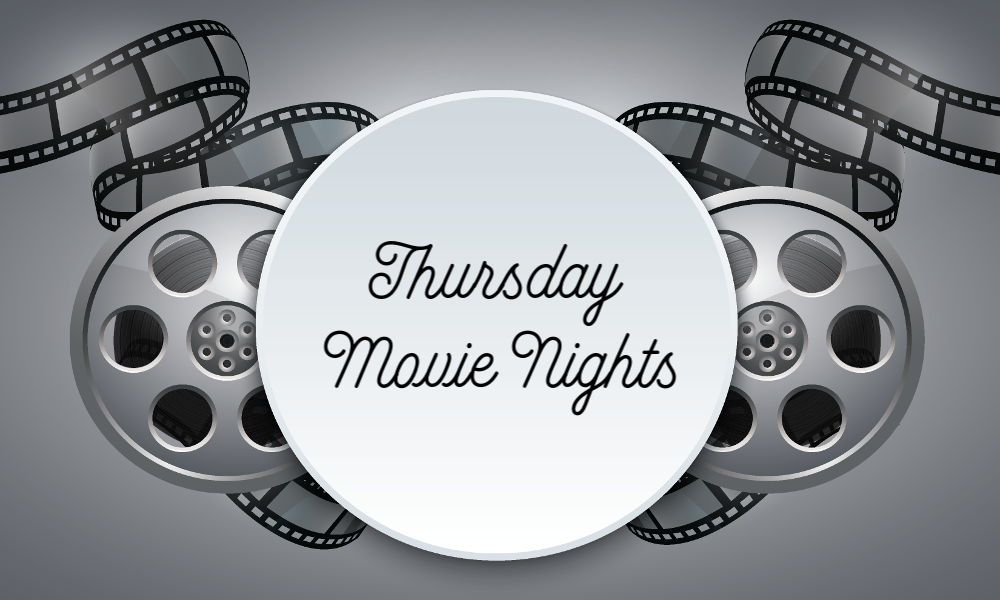 Film with text Thursday Movie Nights